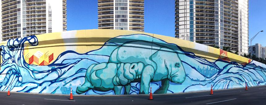 Downtown Hollywood Mural Project Of Collaboration With J Bellicchi Paul Hughes Hallandale